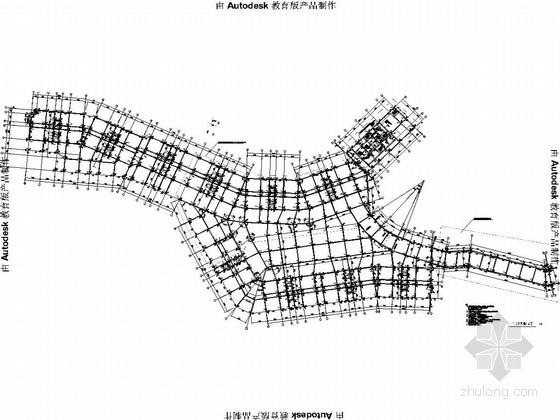 [重庆]框支异形柱框架剪力墙结构公寓结构图(地下二层车库)