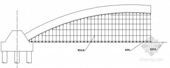 桥梁拱桥边墩支架示意图