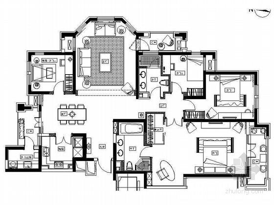 [北京]房山区现代高档四居室样板间装修图