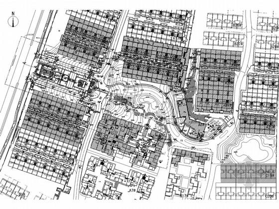 [重庆]花园高档别墅展示区景观全套施工图(著名地产公司)