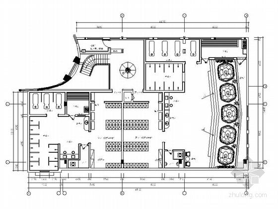 [江苏]市内独家高层山海景酒店洗浴中心施工图(含效果图)