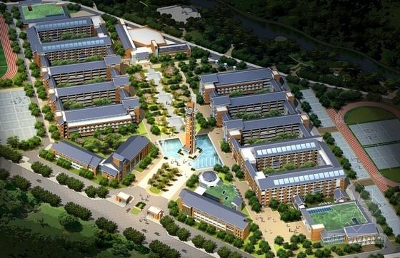 [江西]傳統風格坡屋頂中學校園規劃設計方案文本(120班)