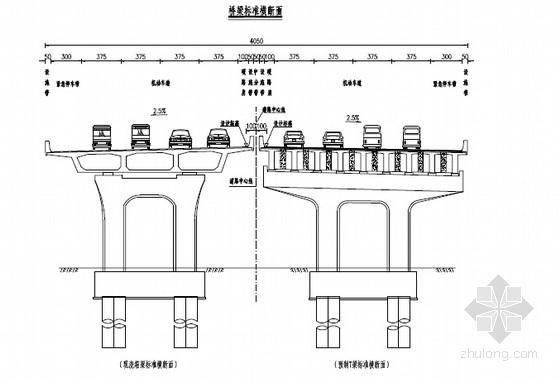 [湖北]长江公路大桥41m宽路基路面施工图88张