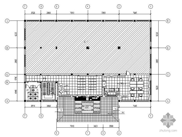 1850㎡某艺术馆办公楼装饰设计施工图