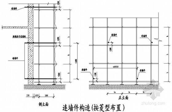 建筑工程落地式脚手架搭设示意图