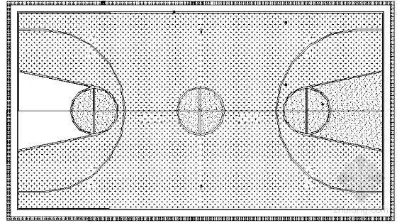 某标准篮球场建筑方案图