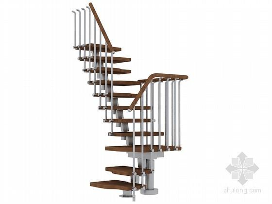 组合楼梯3D模型下载