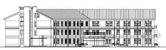 哈医大药学某三层教学楼建筑结构施工图