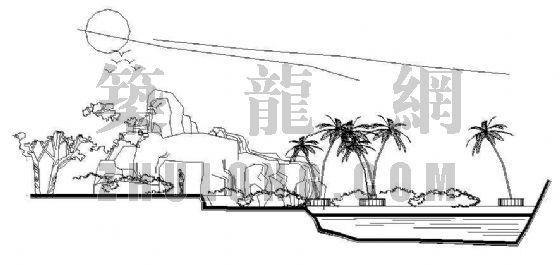 某小区水帘洞景观施工图