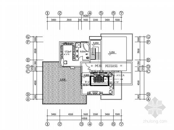 [上海]三层高档别墅及普通住宅楼建筑施工图-三层高档别墅及普通住宅楼建筑平面图