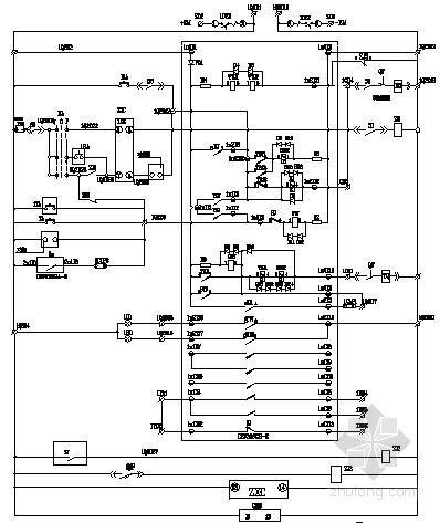 ups配电柜配线图资料下载-开关配电柜二次原理图