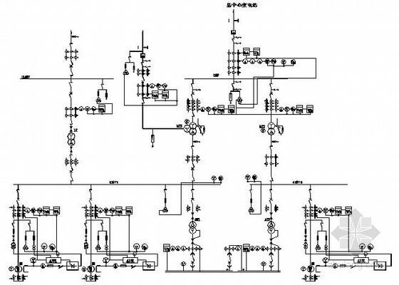 水力发电厂电气部分与水部分系统图
