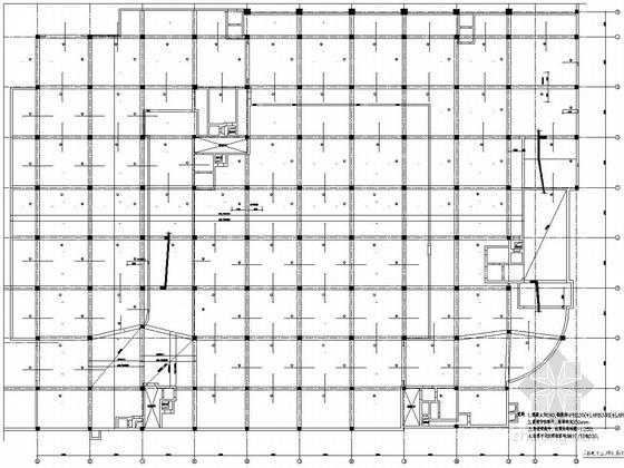 科技大厦甲类掘开式地下室结构图(含建施)