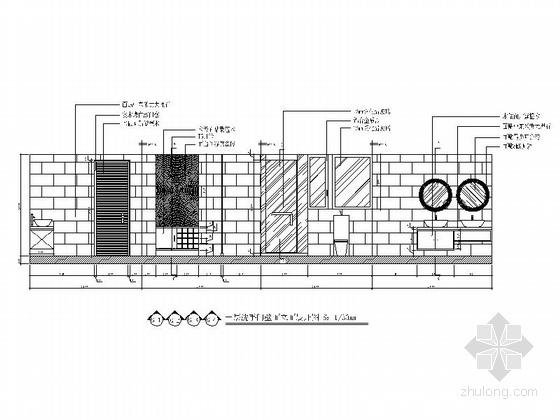 [深圳]豪华三层别墅新中式风格装修图(含效果图) 立面图