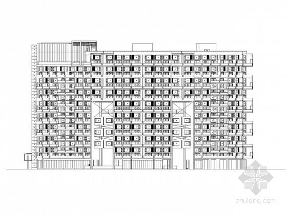 [广东]20层现代风格住宅楼建筑施工图(含效果图)