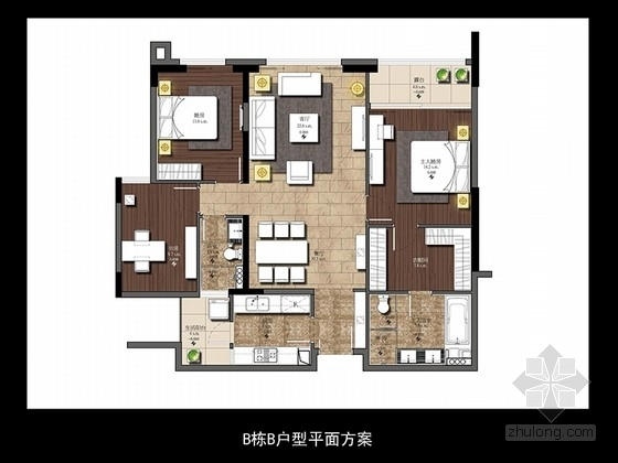 [广东]名师设计现代感的三套不同户型样板间设计方案