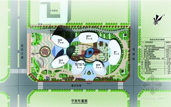 现代风格科研中心规划及建筑设计总平面图