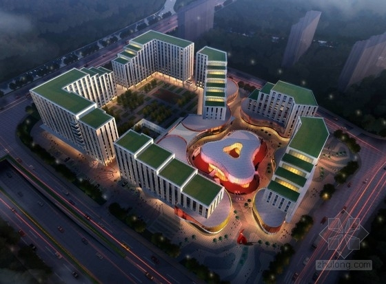 [上海]现代风格办公综合体建筑设计方案图(知名事务所)