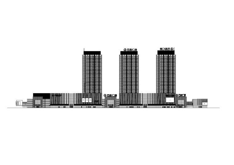 [宁夏]银川万达商业综合体高层办公建筑设计施工图(文本+CAD+SU)