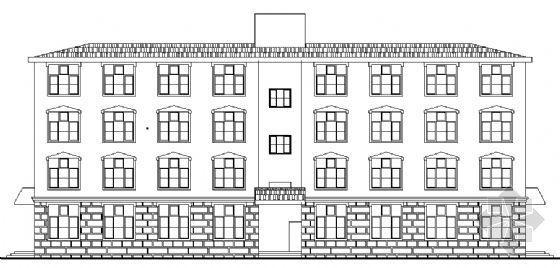 某四层老年公寓建筑方案图