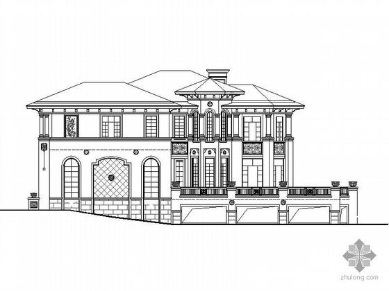 [深圳]某二层高尔夫俱乐部别墅建筑施工图