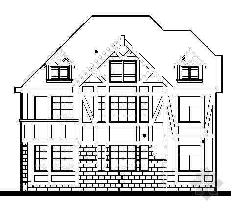 创业园某三层别墅建筑方案图