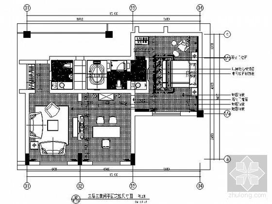 [山东]某酒店三套间装修图
