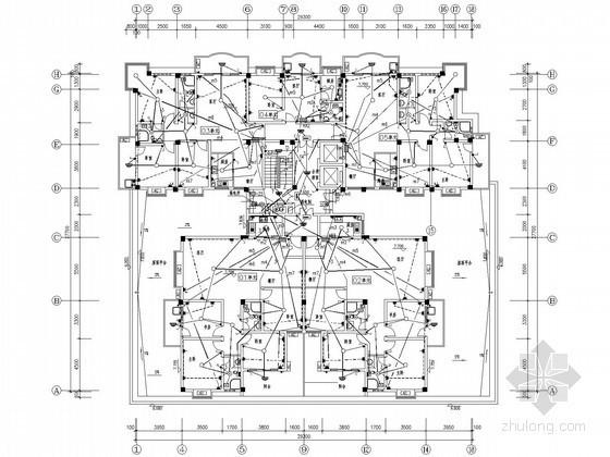[福建]十二层大型综合楼全套电气图纸(含商店、办公及住宅)
