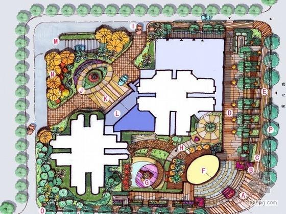 上海商住两用公寓景观设计方案