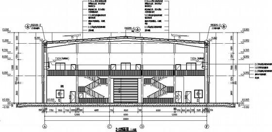 30米跨带吊车厂房施工图(含节能、防火专篇)