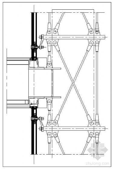 拉杆式点式幕墙节点(六)