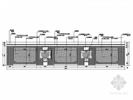 [重庆]高新智能科技功能规划产业园展示厅装修施工图(含效果)工业机器人展示区立面图