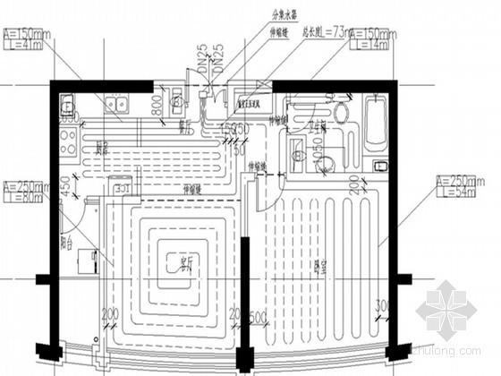 [辽宁]住宅建筑群暖通系统设计施工图纸(含动力设计)