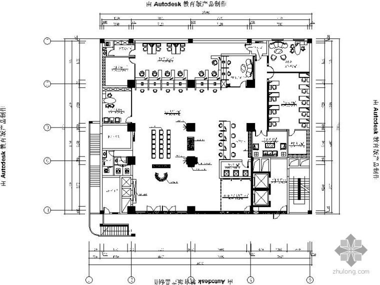 [南昌]某银行室内装修图