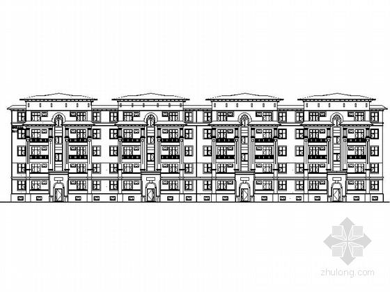 [新疆]某欧式小区规划及单体设计建筑施工图