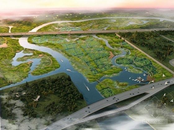 一大波儿不加班的秘方,向你丢过来~-湿地科普区鸟瞰图