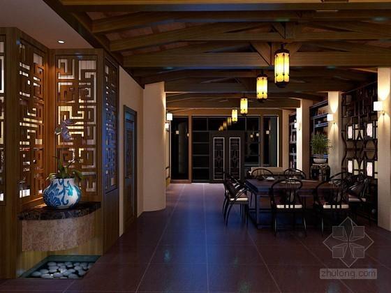 中式茶餐厅3D模型下载