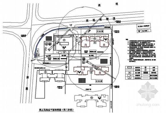 [湖南]框架结构住宅施工组织设计(平面布置图)