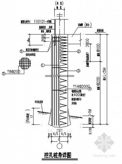人工挖孔桩设计说明及节点构造详图