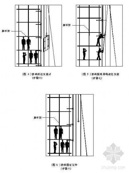 某综合楼点式玻璃幕墙安装施工工艺(钢拉索点式)