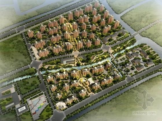 [上海]某欧式风格居住区规划及单体设计方案文本