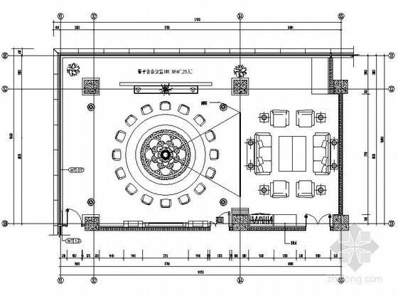 现代办公楼董事会会议室装修图(含效果)