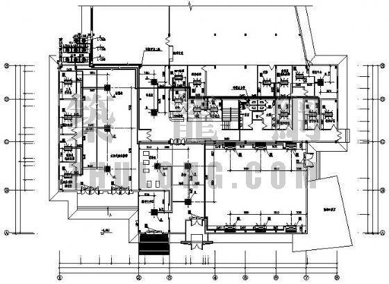 某展厅及维修间空调设计图