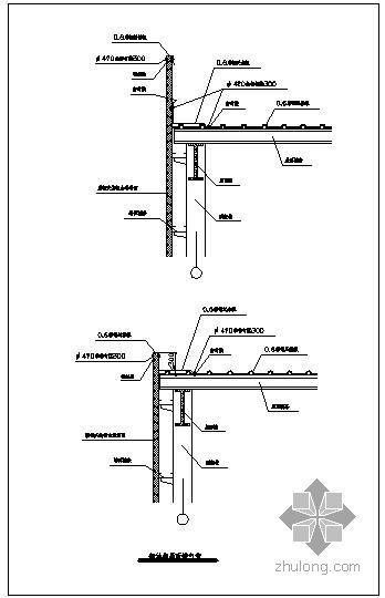 某钢结构屋面排气管节点构造详图