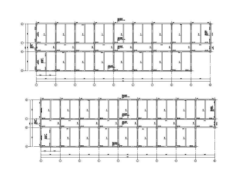 框架结构宾馆设计(建筑图+结构图+计算书)