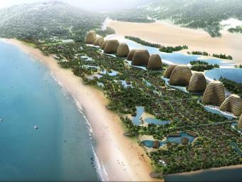 越南东海岸大型生态度假村景观