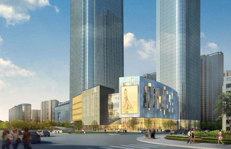 [河南]现代风格双塔楼68层超高层商业综合体方案文本(PDF)