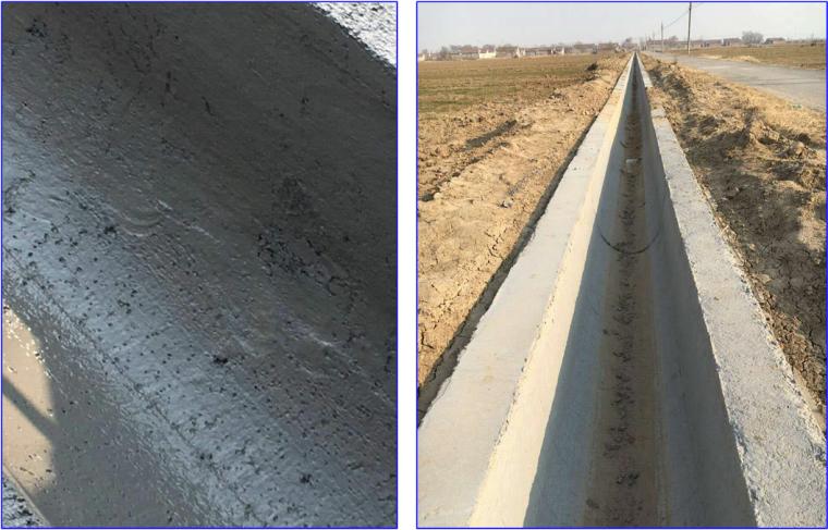 提高农田水利灌溉U型农渠砼一次成型质量
