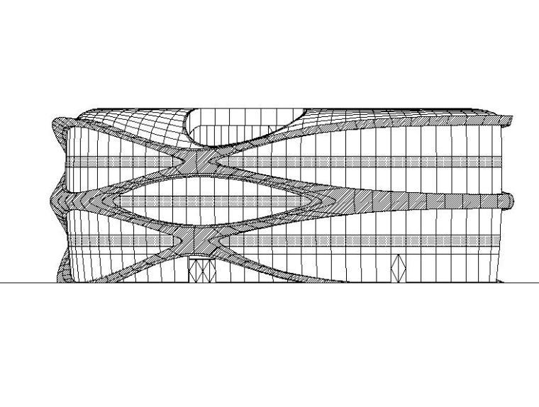 [北京]四层仿生表皮SOHO商业中心建筑施工图