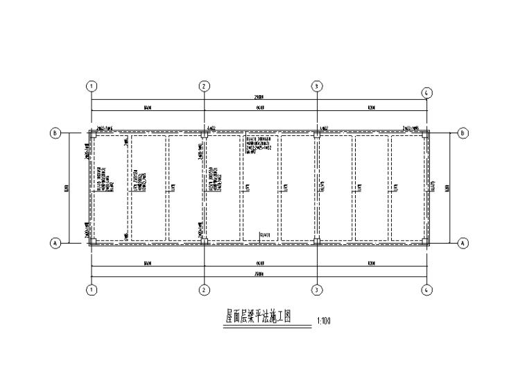 [四川]单层钢混框架结构高压配电室建筑结构施工图(2015)